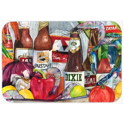 New Orleans Beers and Spices Kitchen/Bath Mat Size: 20 H x 30 W x 0.25 D