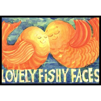 Kissing Fish Doormat Rug Size: 16 x 2 3