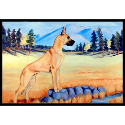 Great Dane Doormat Rug Size: Rectangle 2 x 3