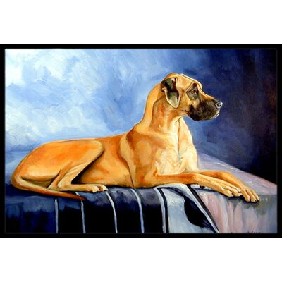 Natural Fawn Great Dane Doormat Rug Size: 16 x 2 3