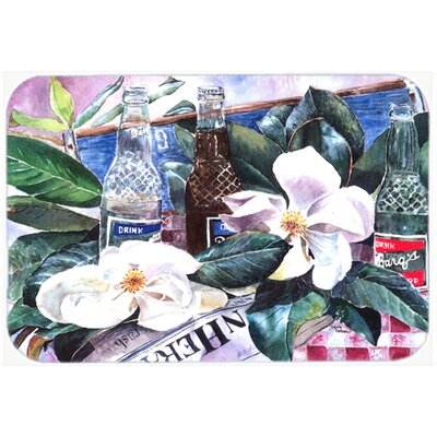 Barqs and Magnolia Kitchen/Bath Mat Size: 24 H x 36 W x 0.25 D
