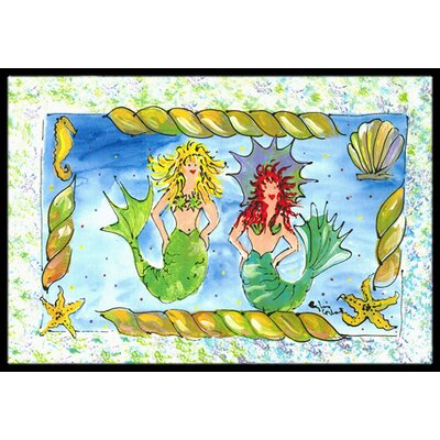 Mermaid Doormat Rug Size: 2 x 3