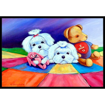 Maltese Doormat Mat Size: Rectangle 16 x 2 3