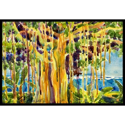 Banyan Tree Doormat Mat Size: Rectangle 2 x 3