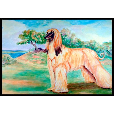 Afghan Hound Doormat Mat Size: Rectangle 2' x 3'