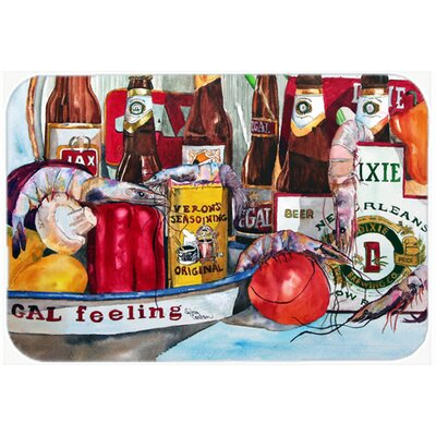 Verons and New Orleans Beers Kitchen/Bath Mat Size: 20 H x 30 W x 0.25 D