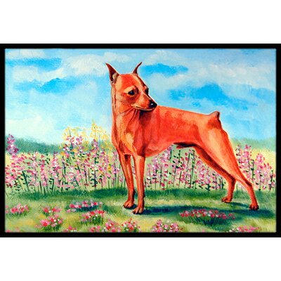 Min Pin Doormat Rug Size: Rectangle 16 x 2 3