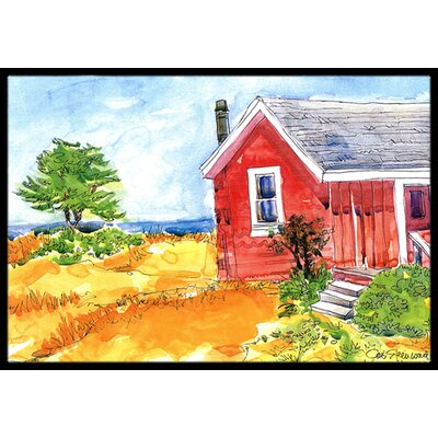 Old Cottage House at the Lake or Beach Doormat Rug Size: 2 x 3