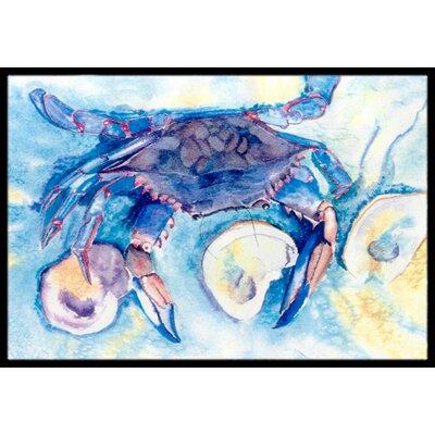 Crab Doormat Rug Size: 16 x 2 3