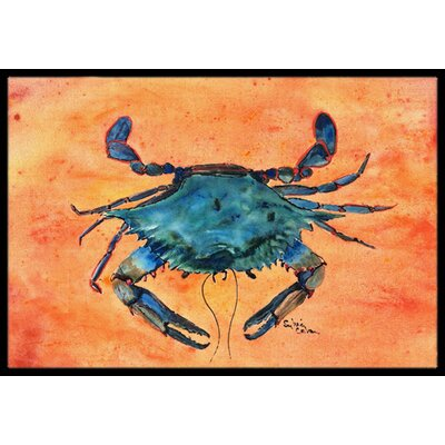 Crab Rectangle Doormat Mat Size: Rectangle 2 x 3