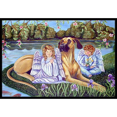Angels with Great Dane Doormat Rug Size: Rectangle 2 x 3