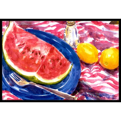Watermelon Doormat Mat Size: Rectangle 16 x 2 3