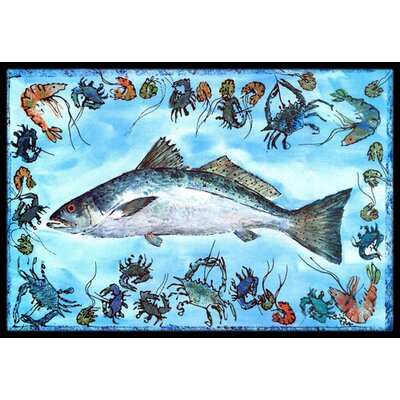 Fish Speckled Trout Doormat Rug Size: Rectangle 2 x 3