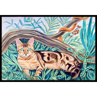 Maine Cat Coon Doormat Rug Size: Rectangle 16 x 2 3