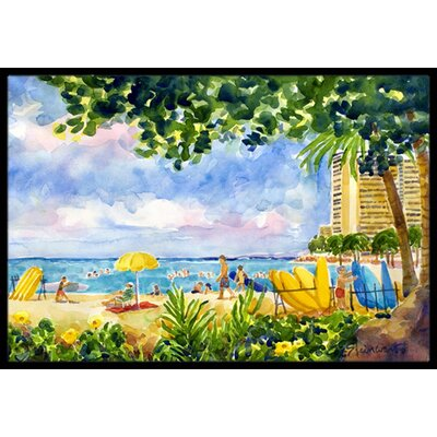 Beach Resort View from the Condo Doormat Mat Size: Rectangle 16 x 2 3