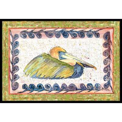 Pelican Doormat Mat Size: 16 x 2 3