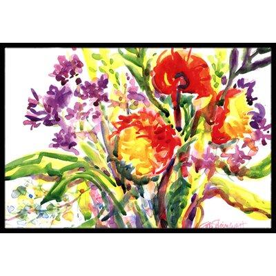 Flower Doormat Rug Size: 2 x 3