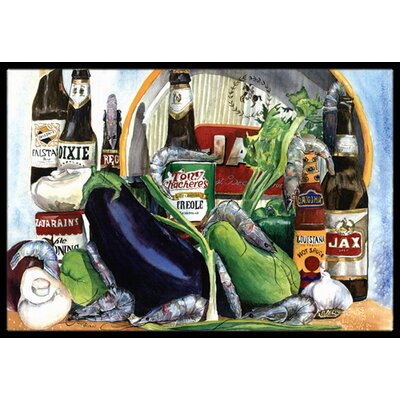 Donnellan Eggplant and New Orleans Beers Doormat Mat Size: Rectangle 16 x 2 3