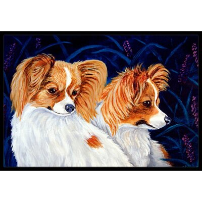 Papillon Doormat Mat Size: Rectangle 16 x 2 3