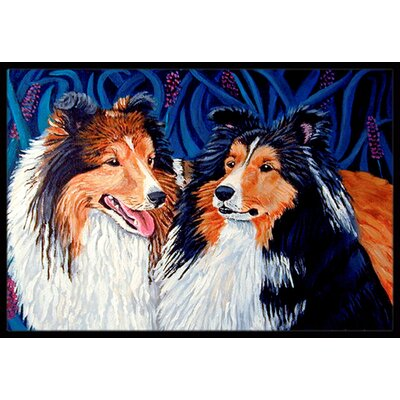 Sheltie Doormat Rug Size: Rectangle 2 x 3