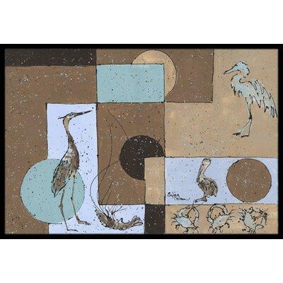 Heron Doormat Mat Size: Rectangle 2 x 3
