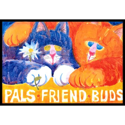 Cats Pals Friends Buds Doormat Mat Size: Rectangle 16 x 2 3