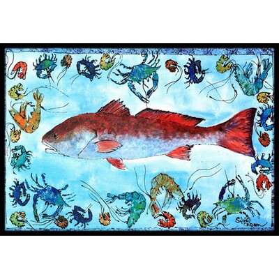 Fish Fish Doormat Mat Size: Rectangle 2 x 3