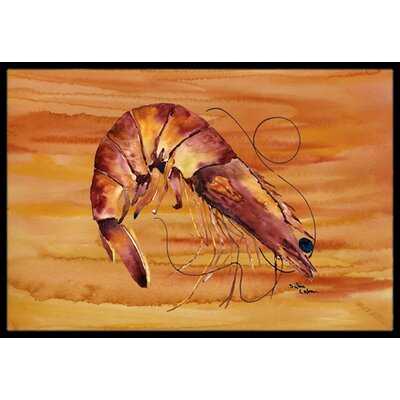 Shrimp Doormat Rug Size: Rectangle 2 x 3