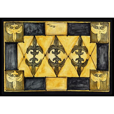 Fleur De Lis Doormat Mat Size: Rectangle 2 x 3
