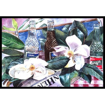 Barqs and Magnolia Doormat Mat Size: Rectangle 2 x 3