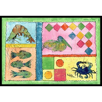 Heron Doormat Mat Size: Rectangle 16 x 2 3