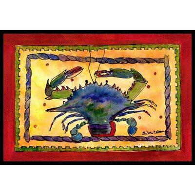 Crab Doormat Mat Size: Rectangle 2 x 3