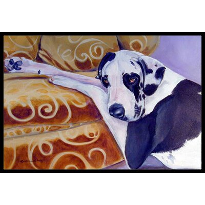 Harlequin Natural Great Dane Doormat Mat Size: Rectangle 2 x 3