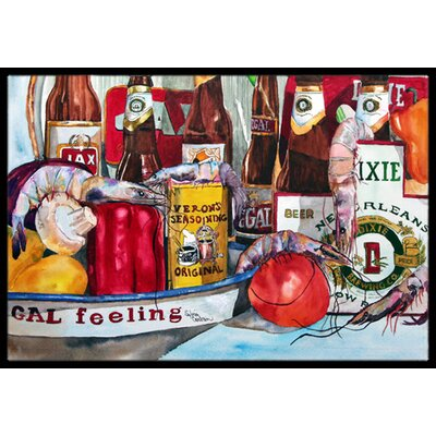 Verons and New Orleans Beers Doormat Rug Size: Rectangle 2 x 3