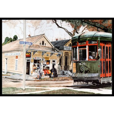 New Orleans Street Car Doormat Mat Size: Rectangle 16 x 2 3