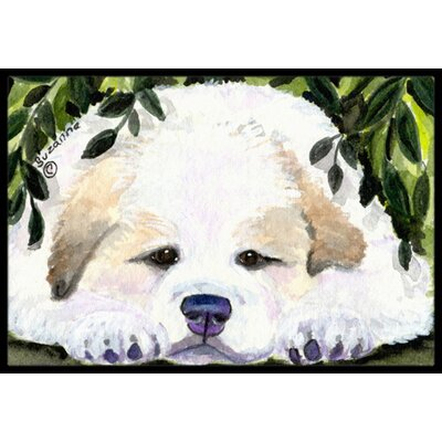Golden Retriever Doormat Rug Size: 1'6