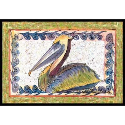 Pelican Doormat Rug Size: 2 x 3