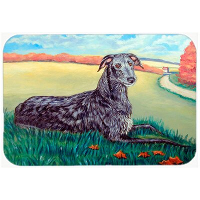 Scottish Deerhound Kitchen/Bath Mat Size: 20 H x 30 W x 0.25 D