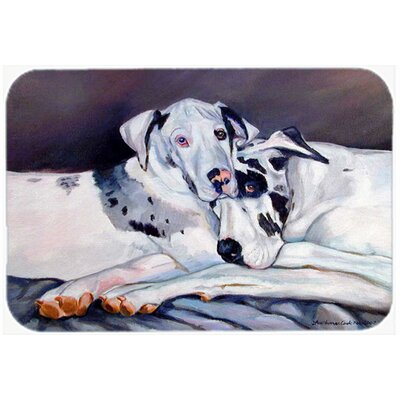 Harlequin Natural Great Danes Kitchen/Bath Mat Size: 24 H x 36 W x 0.25 D