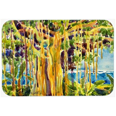 Tree Banyan Tree Kitchen/Bath Mat Size: 24 H x 36 W x 0.25 D