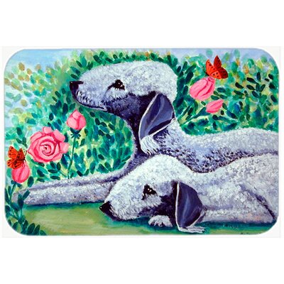 Bedlington Terrier Kitchen/Bath Mat Size: 24 H x 36 W x 0.25 D
