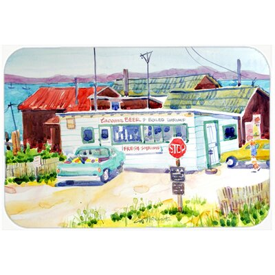 Seafood Shack for Fresh Shrimp Kitchen/Bath Mat Size: 24 H x 36 W x 0.25 D