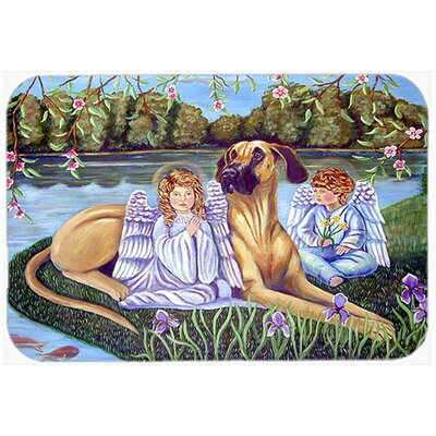 Angels with Great Dane Kitchen/Bath Mat Size: 20 H x 30 W x 0.25 D