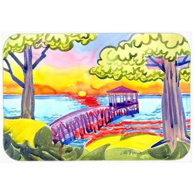 Dock At The Pier Kitchen/Bath Mat Size: 24 H x 36 W x 0.25 D