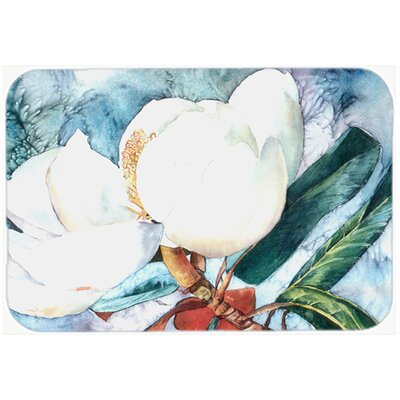 Flower Magnolia Kitchen/Bath Mat Size: 24 H x 36 W x 0.25 D