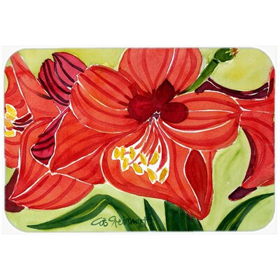 Flower Amaryllis Kitchen/Bath Mat Size: 20 H x 30 W x 0.25 D