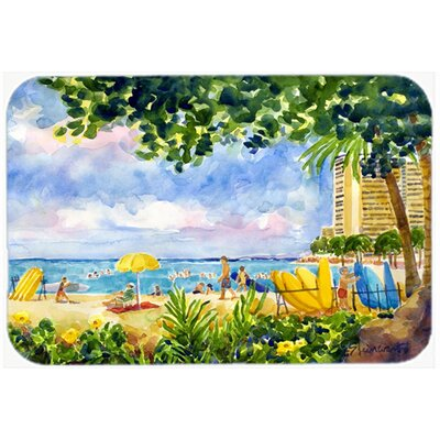 Beach Resort View from The Condo Kitchen/Bath Mat Size: 24 H x 36 W x 0.25 D