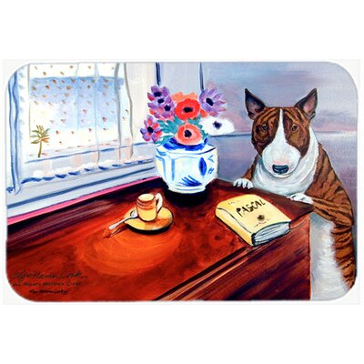 Bull Terrier Kitchen/Bath Mat Size: 24 H x 36 W x 0.25 D