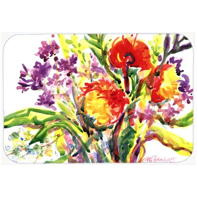 Flower Kitchen/Bath Mat Size: 20 H x 30 W x 0.25 D