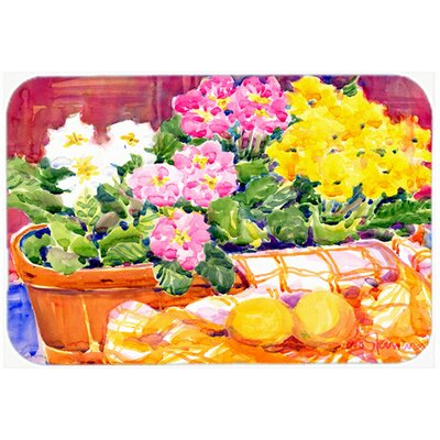 Flower Primroses Kitchen/Bath Mat Size: 24 H x 36 W x 0.25 D